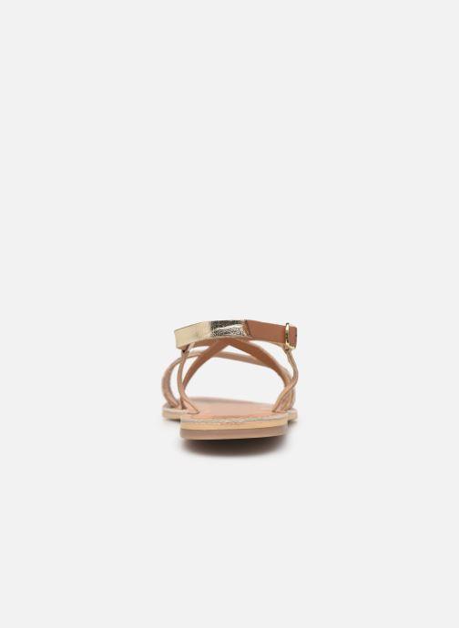 Sandales et nu-pieds Georgia Rose Kacia Or et bronze vue droite