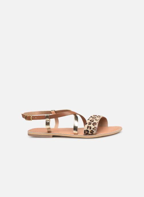 Sandales et nu-pieds Georgia Rose Kacia Or et bronze vue derrière
