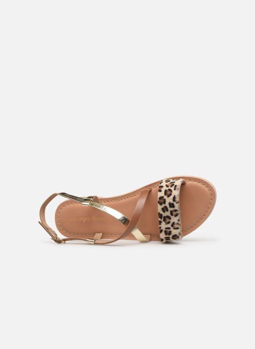 Sandales et nu-pieds Georgia Rose Kacia Or et bronze vue gauche