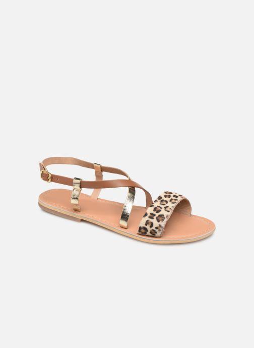 Sandales et nu-pieds Georgia Rose Kacia Or et bronze vue détail/paire