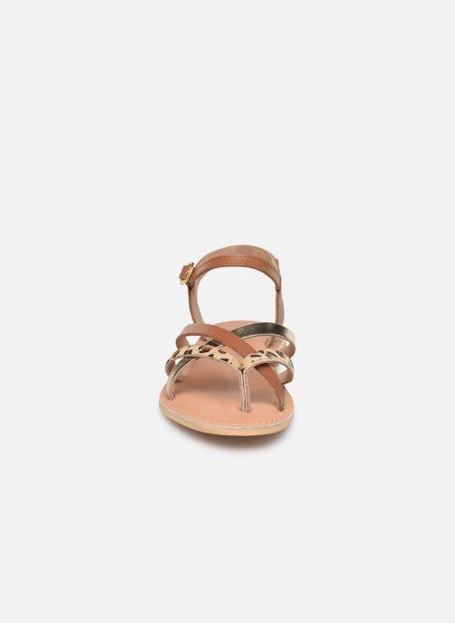 Sandales et nu-pieds Georgia Rose Kaorou Marron vue portées chaussures