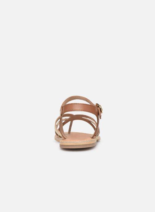 Sandales et nu-pieds Georgia Rose Kaorou Marron vue droite