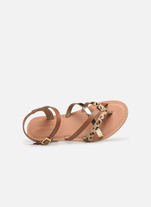 Sandales et nu-pieds Georgia Rose Kaorou Marron vue gauche