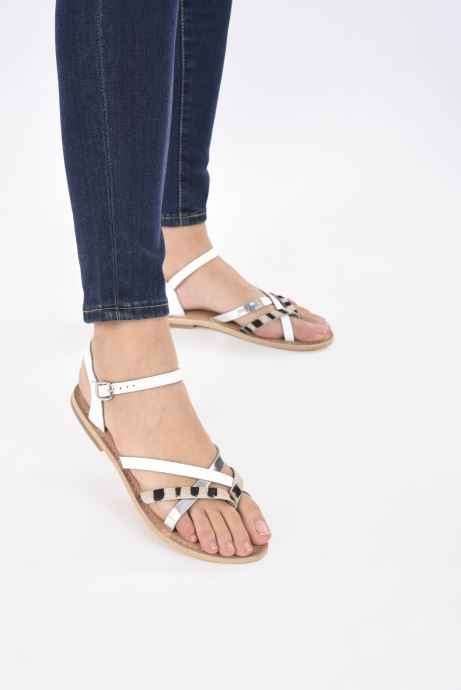 Sandali e scarpe aperte Georgia Rose Kaorou Bianco immagine dal basso