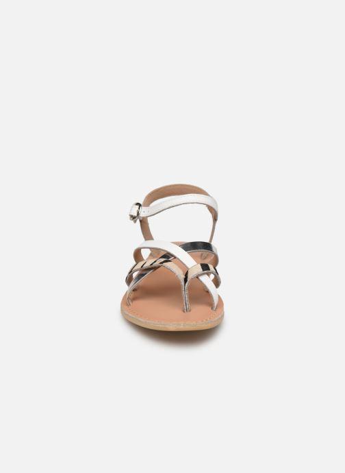 Sandales et nu-pieds Georgia Rose Kaorou Blanc vue portées chaussures
