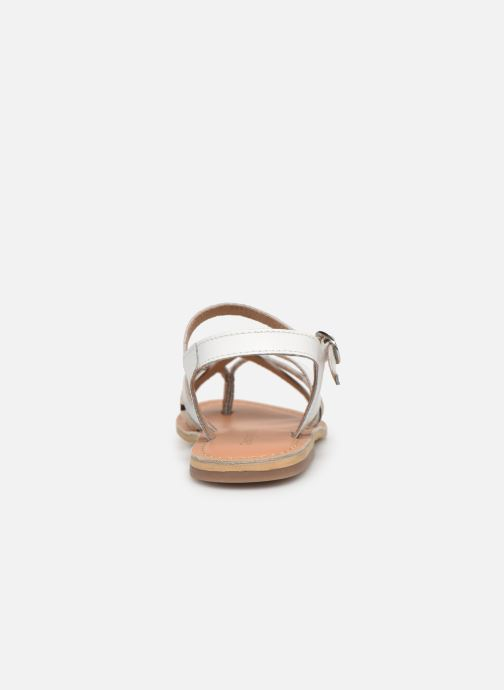 Sandales et nu-pieds Georgia Rose Kaorou Blanc vue droite
