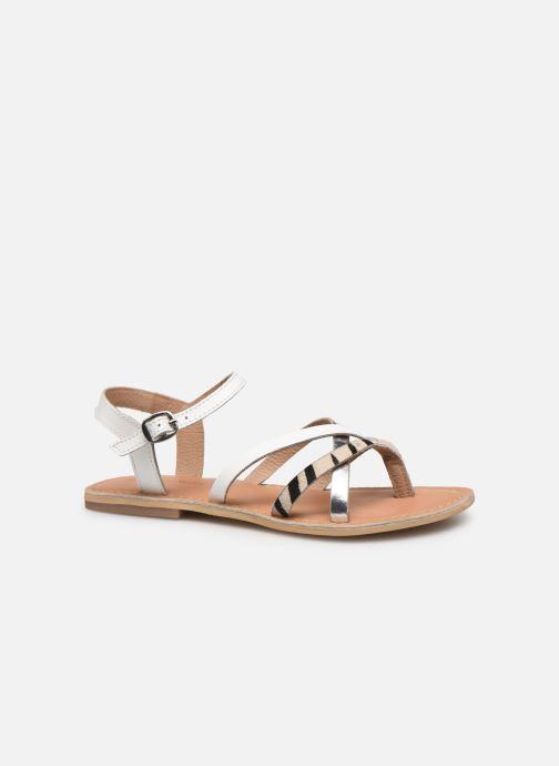 Sandales et nu-pieds Georgia Rose Kaorou Blanc vue derrière