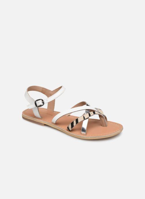 Sandales et nu-pieds Georgia Rose Kaorou Blanc vue détail/paire