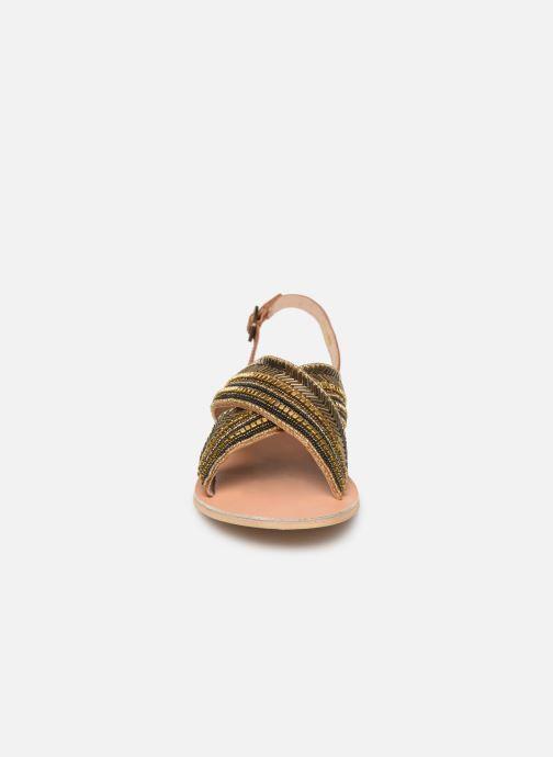 Sandales et nu-pieds Georgia Rose Kaperla Or et bronze vue portées chaussures