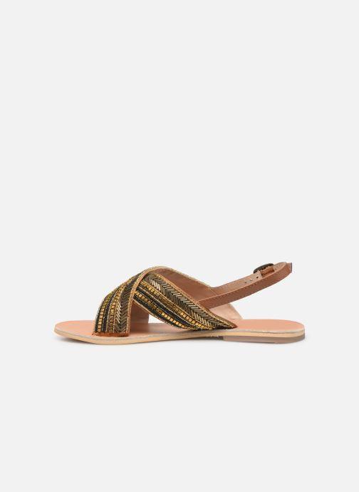 Sandales et nu-pieds Georgia Rose Kaperla Or et bronze vue face
