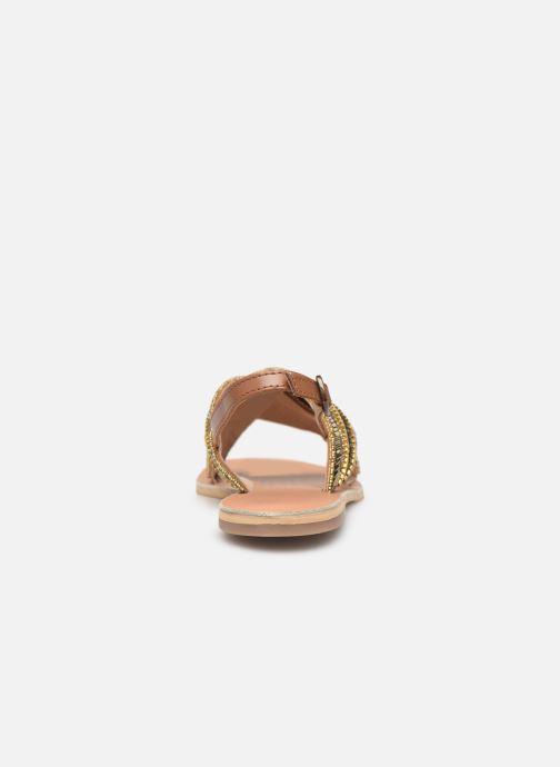 Sandales et nu-pieds Georgia Rose Kaperla Or et bronze vue droite