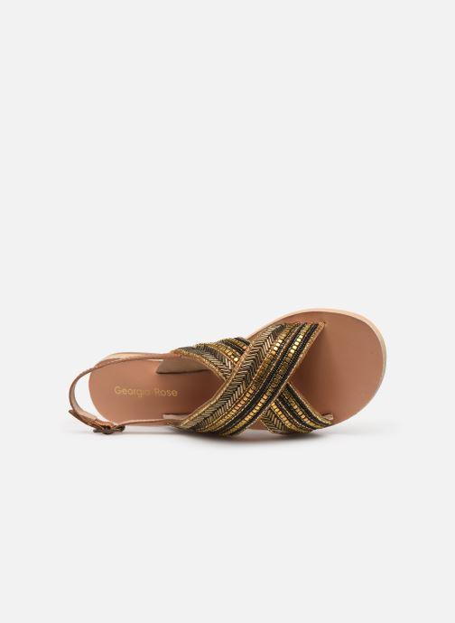 Sandales et nu-pieds Georgia Rose Kaperla Or et bronze vue gauche