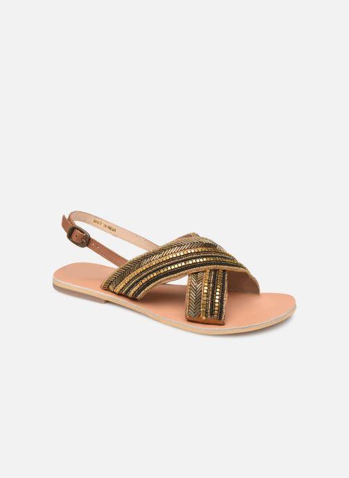 Sandales et nu-pieds Georgia Rose Kaperla Or et bronze vue détail/paire
