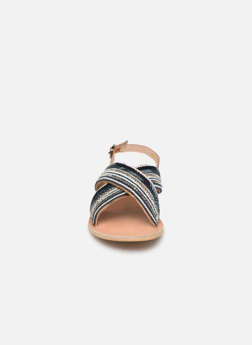 Sandales et nu-pieds Georgia Rose Kaperla Bleu vue portées chaussures