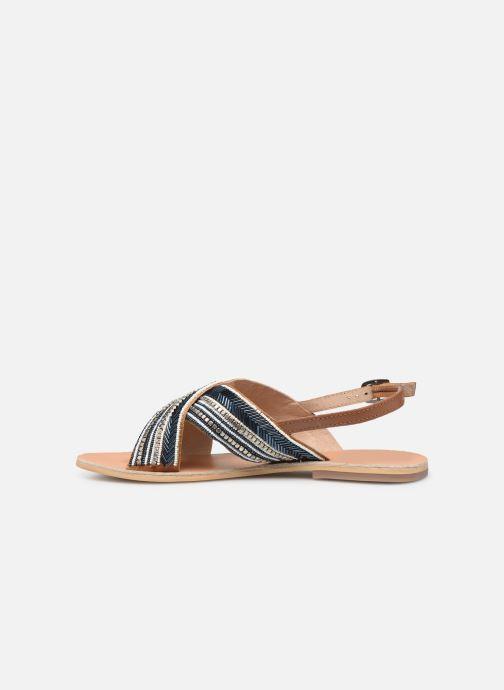 Sandales et nu-pieds Georgia Rose Kaperla Bleu vue face
