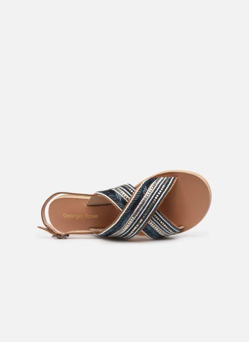 Sandales et nu-pieds Georgia Rose Kaperla Bleu vue gauche