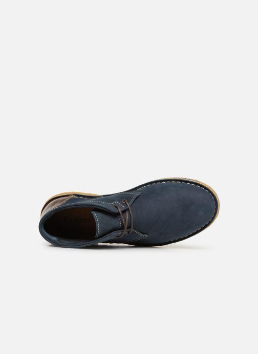 Bottines et boots Kickers CLUBBO Bleu vue gauche