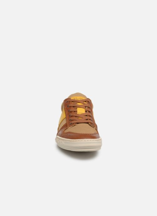 Baskets Kickers JIMMY Marron vue portées chaussures