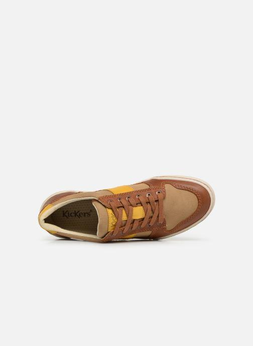 Sneakers Kickers JIMMY Marrone immagine sinistra