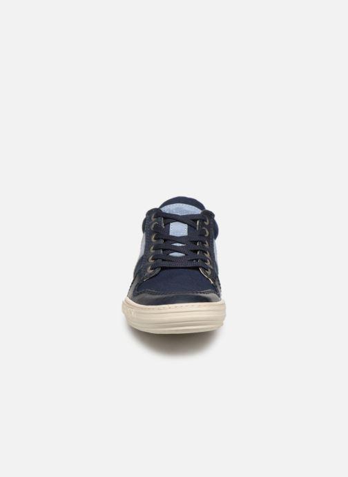Baskets Kickers JIMMY Bleu vue portées chaussures