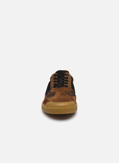 Sneakers Kickers THEORY Marrone modello indossato