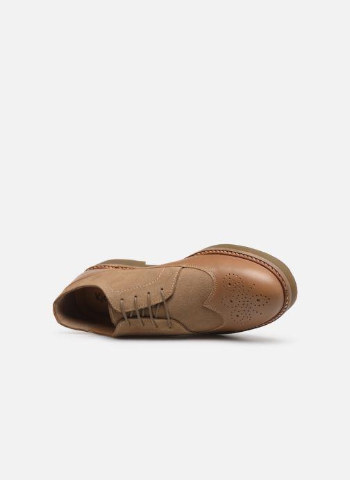 Zapatos con cordones Kickers OXANY Beige vista lateral izquierda