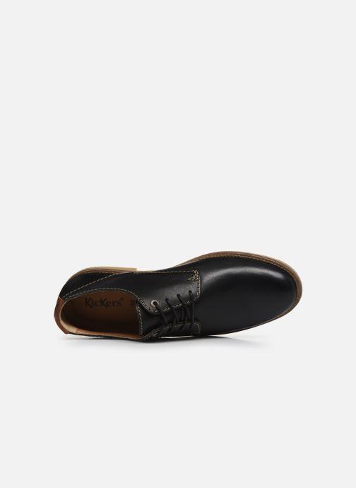 Chaussures à lacets Kickers BACAR Noir vue gauche