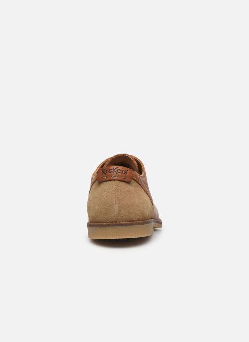 Chaussures à lacets Kickers BACAR Marron vue droite