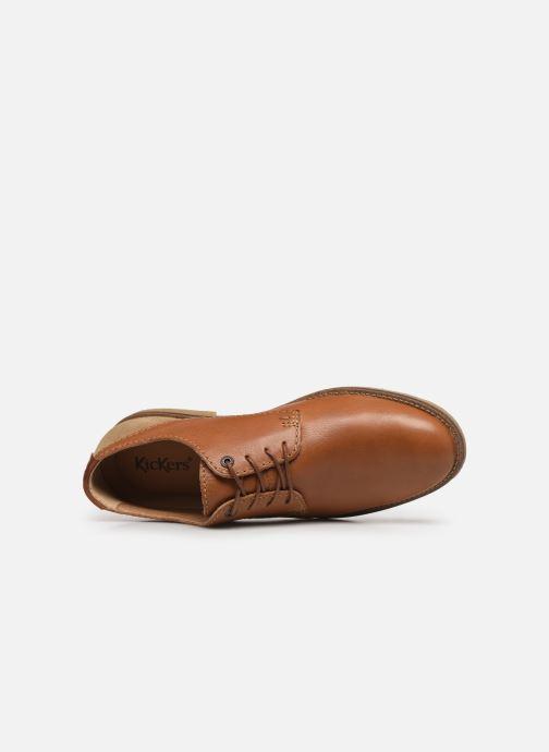 Chaussures à lacets Kickers BACAR Marron vue gauche