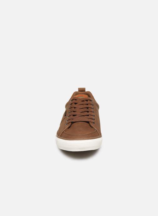 Baskets Kickers ARTY Marron vue portées chaussures
