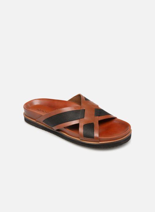 Sandales et nu-pieds Kickers SYLSON Marron vue détail/paire