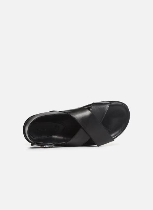 Sandalen Kickers SANDROSS schwarz ansicht von links