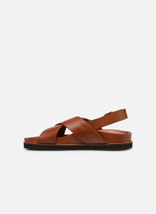Sandales et nu-pieds Kickers SANDROSS Marron vue face