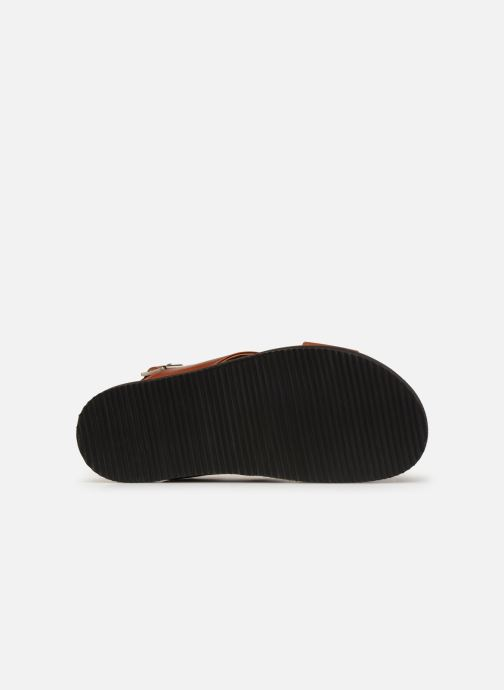 Sandales et nu-pieds Kickers SANDROSS Marron vue haut