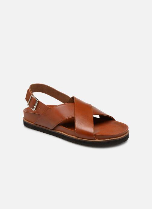 Sandales et nu-pieds Kickers SANDROSS Marron vue détail/paire