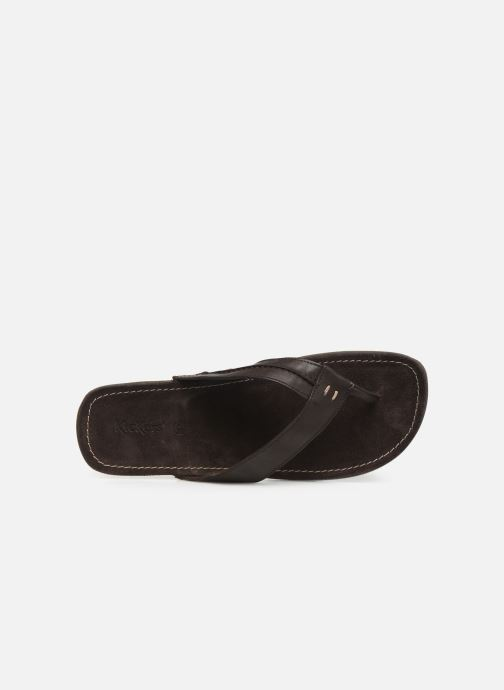 Sandales et nu-pieds Kickers SPACIES Marron vue gauche