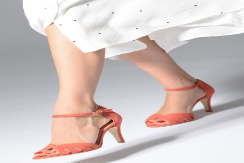 Sandales et nu-pieds Jonak DONIT Orange vue bas / vue portée sac
