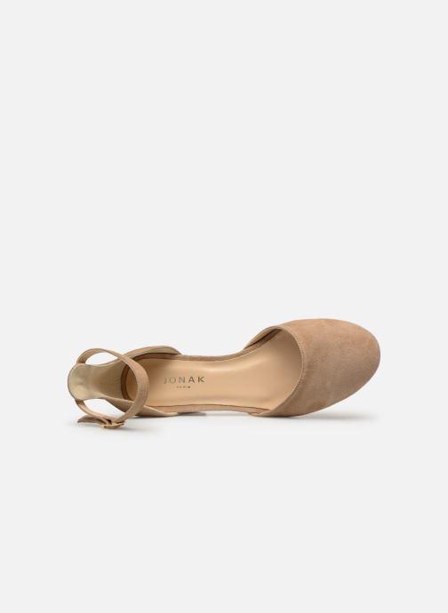 Sandales et nu-pieds Jonak VIRGILIE Beige vue gauche
