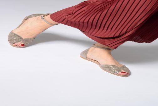 Sandales et nu-pieds Jonak DUTRA Or et bronze vue bas / vue portée sac