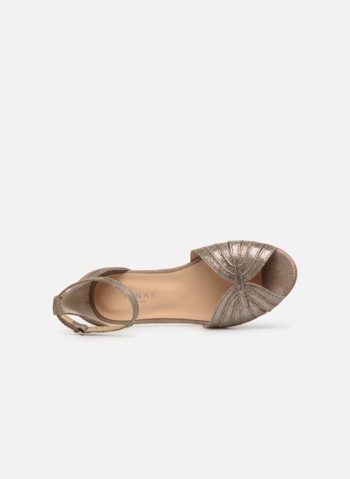 Sandales et nu-pieds Jonak DUTRA Or et bronze vue gauche
