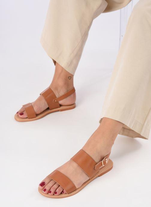 Sandalen Jonak WAOUDA 804 braun ansicht von unten / tasche getragen