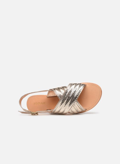 Sandales et nu-pieds Jonak WAPITI Or et bronze vue gauche