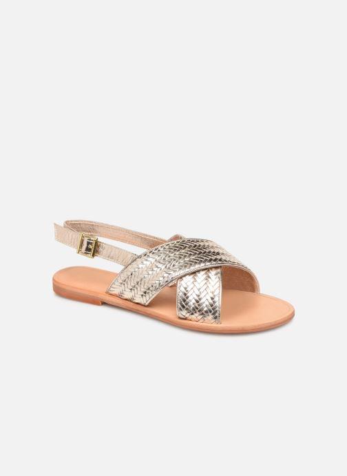 Sandales et nu-pieds Jonak WAPITI Or et bronze vue détail/paire
