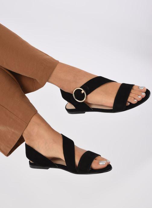 Sandales et nu-pieds Jonak ABLA Noir vue bas / vue portée sac