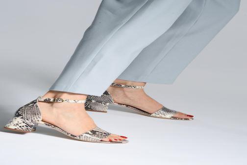 Sandales et nu-pieds Jonak VERDI Gris vue bas / vue portée sac