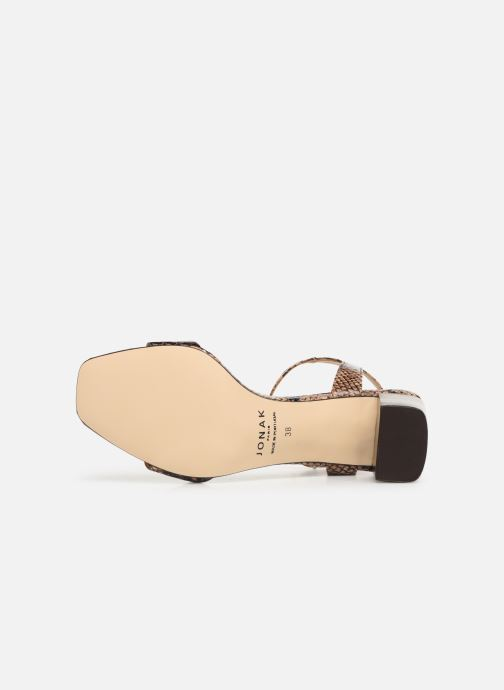 Sandales et nu-pieds Jonak VRISTO Marron vue haut