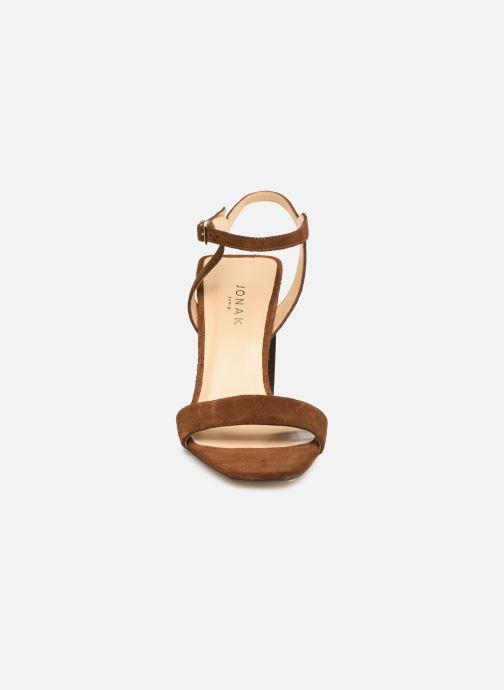 Sandales et nu-pieds Jonak VROSE Marron vue portées chaussures