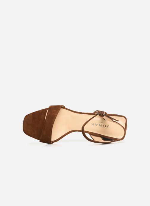 Sandales et nu-pieds Jonak VROSE Marron vue gauche