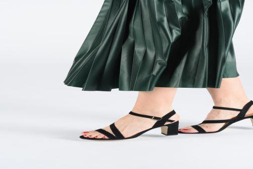 Sandales et nu-pieds Jonak VEDHI Noir vue bas / vue portée sac