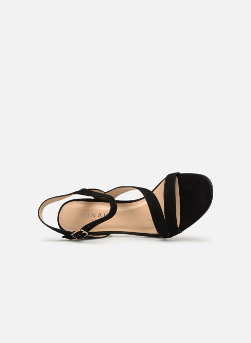 Sandals Jonak VEDHI Black view from the left
